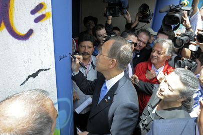 Secretary-General Inaugurates UN-Funded School in Colombia