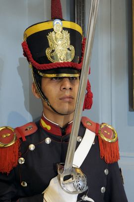 Guard at Casa Rosada in Buenos Aires, Argentina