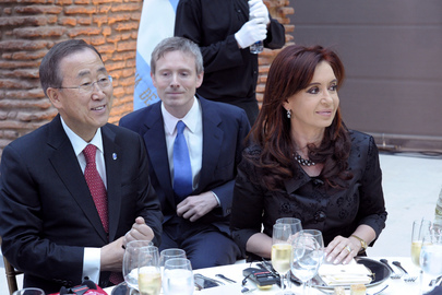 Secretary-General Attends Lunch Hosted by Argentinean President