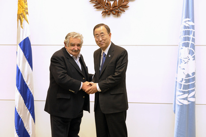 Secretary-General Meets President of Uruguay in Montevideo