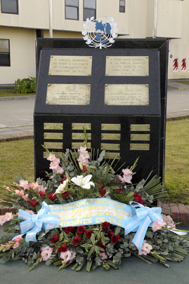 Monument to Fallen Peacekeepers at Argentina Training Centre