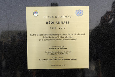 Monument to Fallen MINUSTAH Chief Unveiled at Argentina Peacekeeping Base