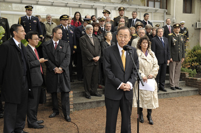 Secretary-General Visits Peacekeeping School in Uruguay