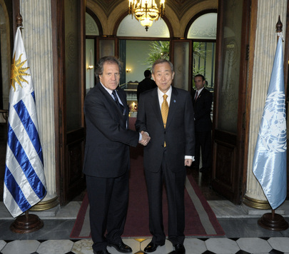 Secretary-General Meets Foreign Minister of Uruguay in Montevideo