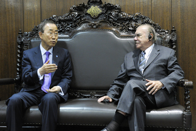 Secretary-General Meets President of Brazilian Senate