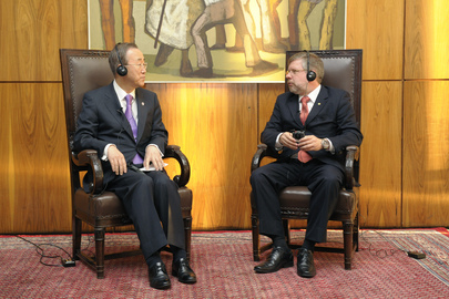 Secretary-General Meets President of Brazil's Chamber of Deputies