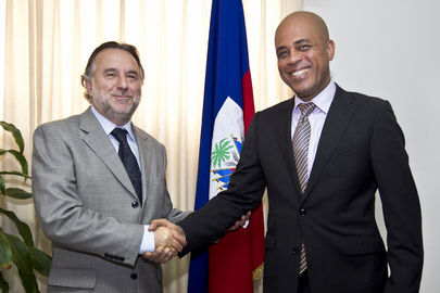 New Special Representative Meets President of Haiti