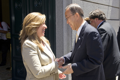 Secretary-General Attends Luncheon Given by Foreign Minister of Spain