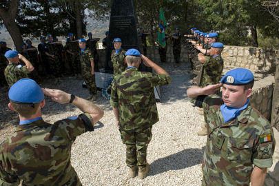 Irish UNIFIL Peacekeepers Honour Their Fallen Colleagues in Tibnin