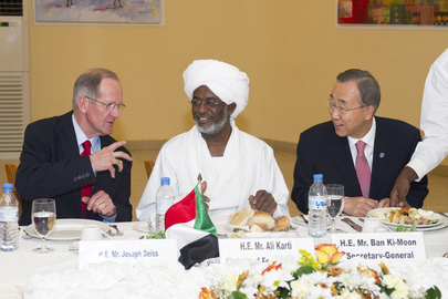 Secretary-General and Assembly President Attend Working Lunch with Sudanese Foreign Minister