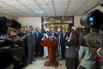 Secretary-General and Assembly President Speak to Media in Khartoum