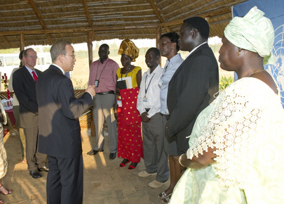 Secretary-General Meets UN staff in Juba