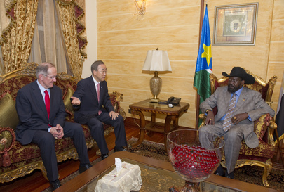 Secretary-General and Assembly President Meet President of South Sudan