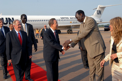 Secretary-General in Juba for South Sudan's Independence