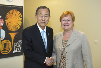 Secretary-General Meets President of Finland