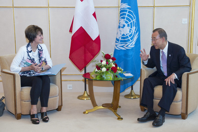 Secretary-General Meets President of Swiss Federation