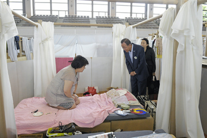 Secretary-General Visits Displaced Persons in Fukushima, Japan