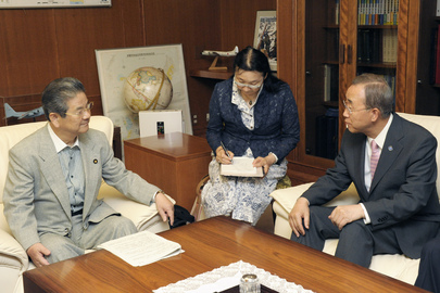 Secretary-General Meets Japanese Defence Minister