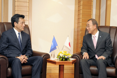 Secretary-General Meets Head of Democratic Party of Japan in Tokyo