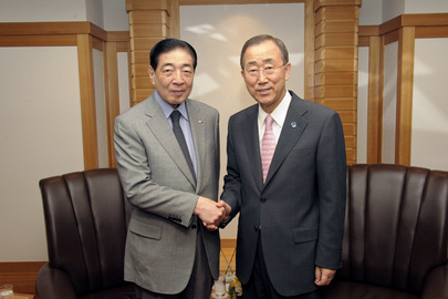 Secretary-General Meets Head of International Red Cross in Tokyo