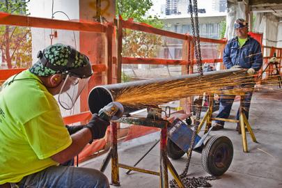 Trabalhadores da construção civil. Foto: ONU/Rick Bajornas