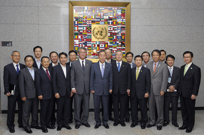 Secretary-General Meets Foreign Ministry Staff in Seoul
