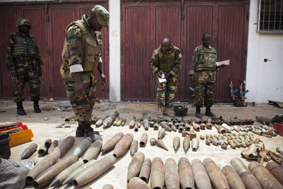 African Union Troops Uncover Shabaab IED, Car Bomb and Suicide Vest Materials