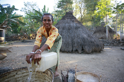 Woman Collecting Water, Timor-Leste