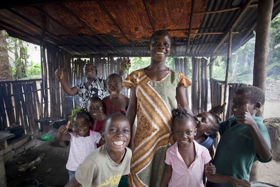 Family in Clay Ashland, Liberia