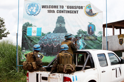 Guatemalan Battalion Escorts MONUSCO and AFRICOM Commanders