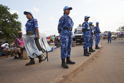 Formed Police Unit on Watch during Liberian Referendum