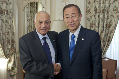 Secretary-General Meets Arab League Chief before Libya Summit