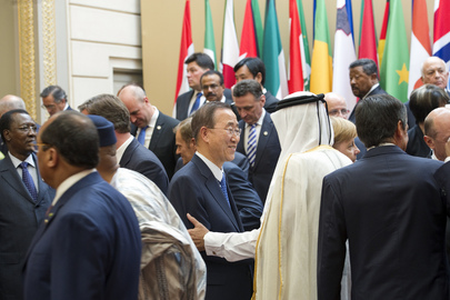"Secretary-General Meets World Leaders at ""Friends of Libya"" Summit"