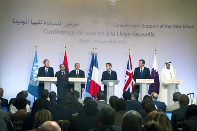 "Secretary-General and Leaders Brief on ""Friends of Libya"" Summit"