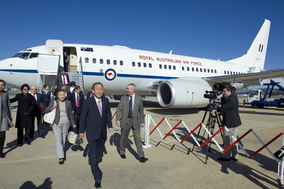 Secretary-General Arrives in Canberra, Australia