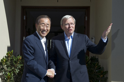 Secretary-General Meets Australian Foreign Minister in Canberra