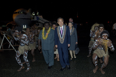 Secretary-General Arrives in Solomon Islands