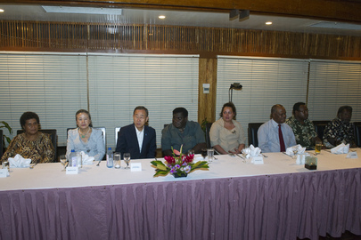 Secretary-General Attends Dinner with Solomon Islands Prime Minister