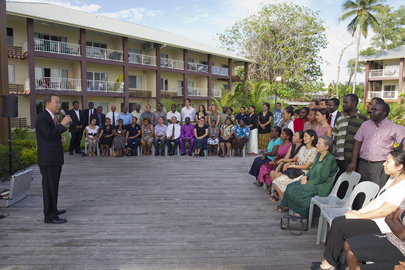 Secretary-General Meets UN Staff Bases in Solomon Islands