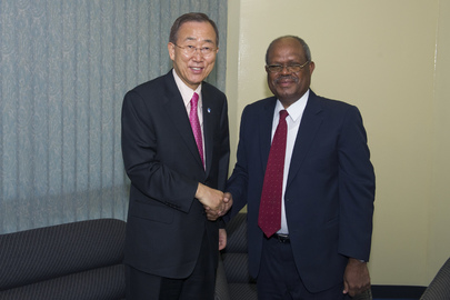 Secretary-General Meets Head of Solomon Islands Parliament