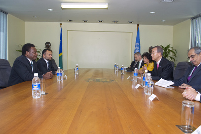 Secretary-General Meets Solomon Islands Opposition Leader