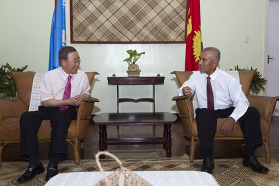 Secretary-General Meets President of Kiribati