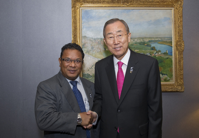 Secretary-General Meets President of Nauru