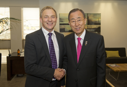 Secretary-General Meets New Zealand Leader of Opposition