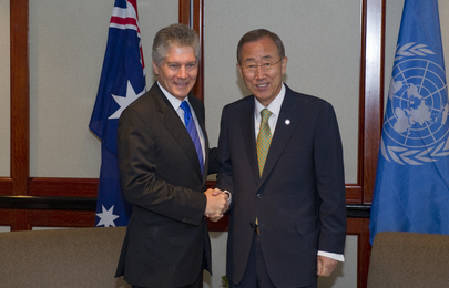 Secretary-General Meets Australian Defence Minister in Sydney