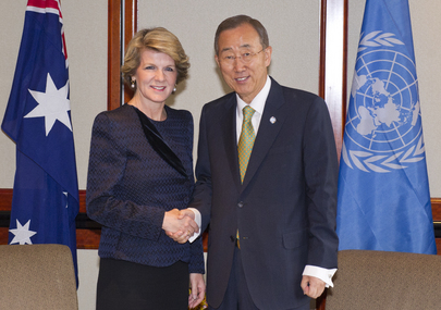 Secretary-General Meets Australia's Deputy Leader of Opposition