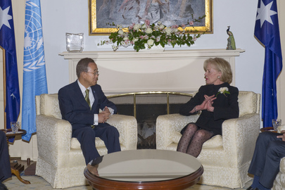 Secretary-General Meets Governor-General of Australia