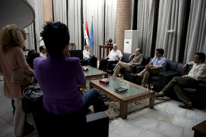 UNAMI Chief Holds Final Meeting with Staff