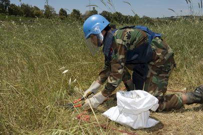 Peacekeepers in Lebanon De-Mine along Israeli-Lebanese Blue Line