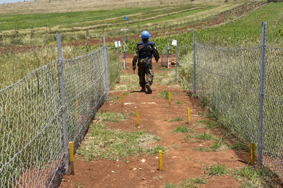 Peacekeepers in Lebanon De-Mine along Israeli-Lebanese Blue Line